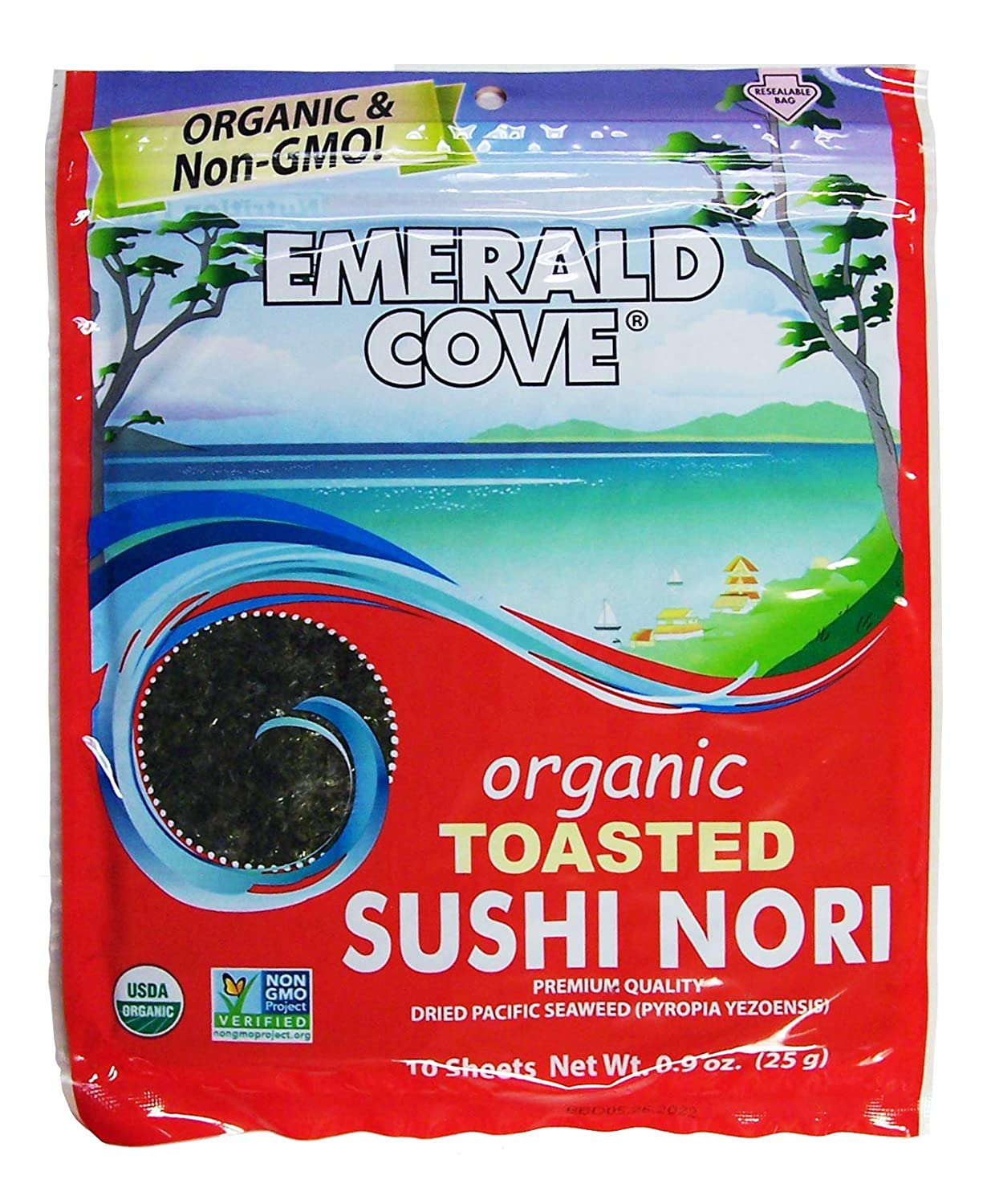 Emerald Online limited product Cove Organic Toasted Pacific Sushi 5.4 Today's only Sheets Nori Oz