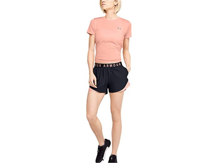 Under Armour Play Up Shorts 3.0 Black/peach Frost/peach Frost