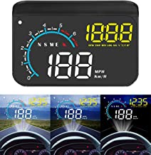 Head-up Display, ACECAR Upgrade Head Up Display Dual Mode OBD2/GPS Windshield Projector with Speed, Overspeed Warning, Mil...