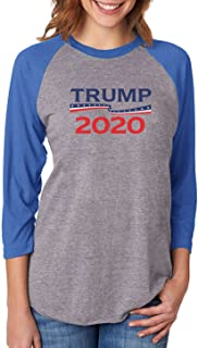 Tstars Donald Trump President 2020 Campaign 3/4 Women Sleeve Baseball Jersey Shirt