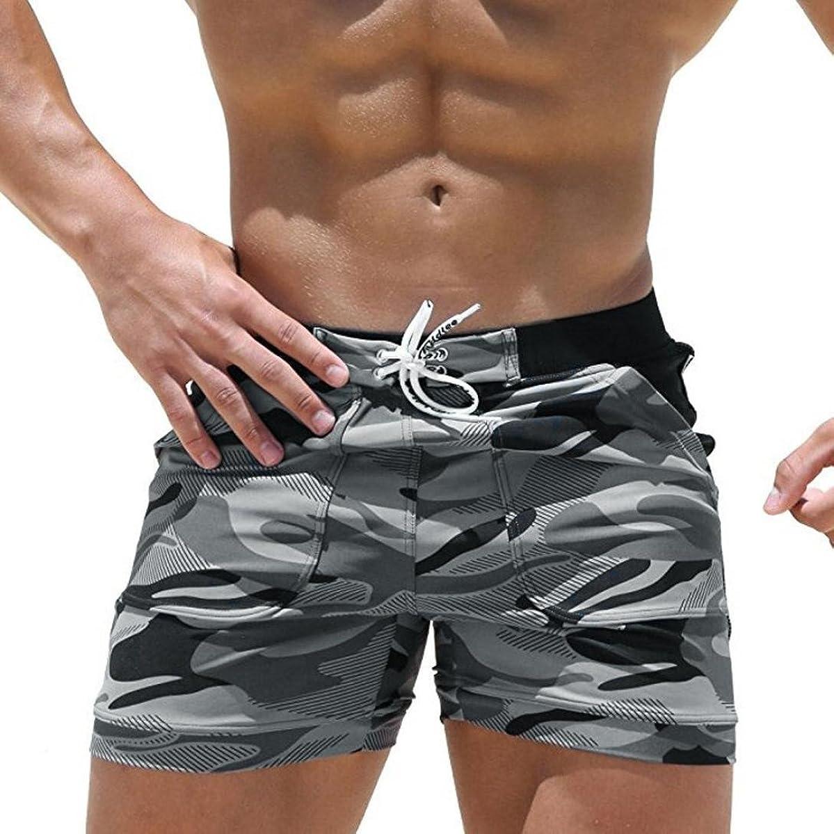 Allywit Mens Camouflage Swim Trunks Pants Swimwear Shorts Slim Wear Beach Shorts