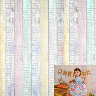 Kate 8x8ft Microfiber Wood Fence Backdrops for Photoshoot Easter Decoration Backdrop Colorful Texture Backgrounds Newborn Baby Shower Props Background
