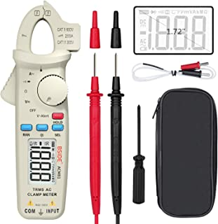 Bside 1mA Clamp Meter Digital True RMS Auto-Ranging Multimeter AC Current Temperature Diode Voltage V-Alert Tester with Ba...