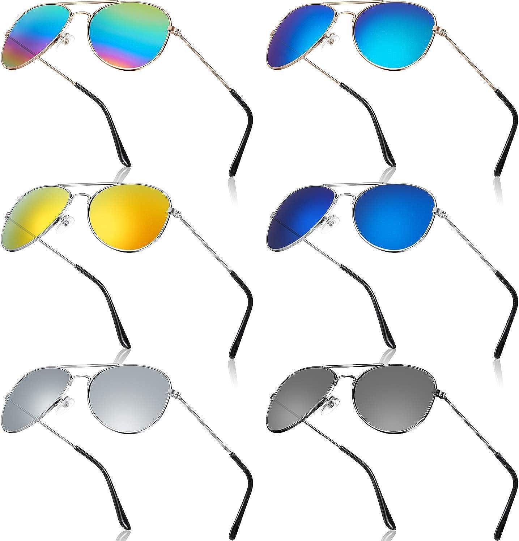 6 Pairs Kids Inexpensive Mirrored Sunglasses Costume Me discount Eyeglasses 70's