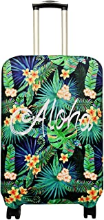 Travel Luggage Cover Suitcase Protector Fits 18-32 Inch Luggage (Aloha, S(18-22 inch Luggage))