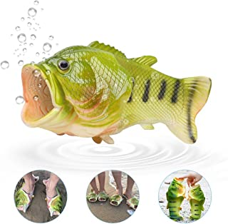 Fish Slippers, Unisex Funny Animal Slippers Beach Fish Sandals Bathroom Slippers Beach Pool Shoes Shower Flip Flops Shoes(40-41)