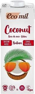 EcoMil Coconut Nature , Bebida de coco Sin azúcar- 1L