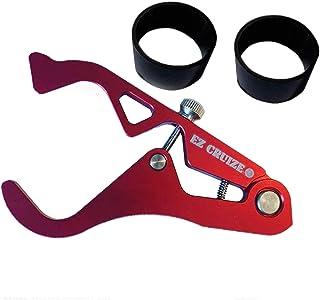 EZ Cruize - Motorcycle Cruise Control - Universal Throttle Assist - Wrist / Hand Grip Lock Clamp - Harley, Honda, Suzuki, Yamaha, Kawasaki, Victory, Indian, Triumph, Ducati, Aprilia, KTM, BMW (Red)