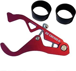 EZ Cruize - Motorcycle Cruise Control - Universal Throttle Assist - Wrist/Hand Grip Lock Clamp - Harley, Honda, Suzuki, Yamaha, Kawasaki, Victory, Indian, Triumph, Ducati, Aprilia, KTM, BMW (Red)