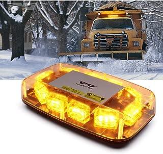 Lumenix Amber Yellow LED Rooftop Strobe Lights 30 LED Flashing Beacon Light 12
