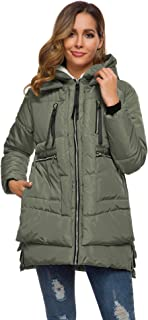 Women's Fashion Hooded Winter Down Jacket Warm Down Coats