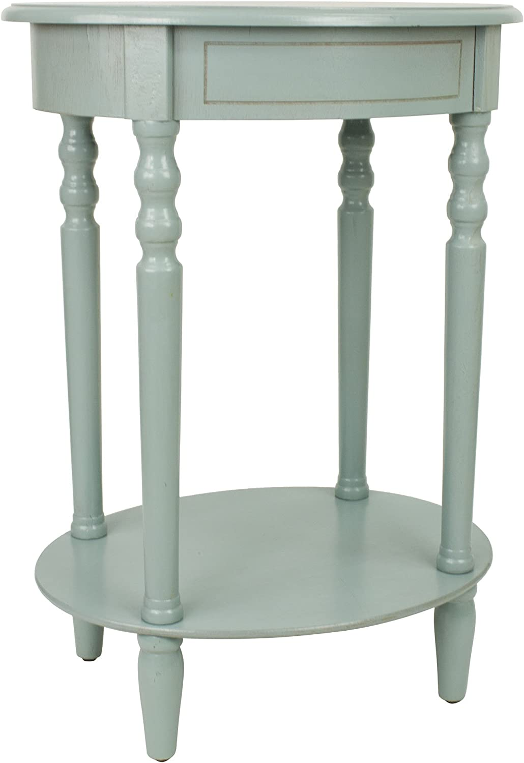 Décor Therapy FR1540 End Table, Antiqued Iced bluee