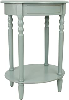 Décor Therapy End Table, Antiqued Iced Blue