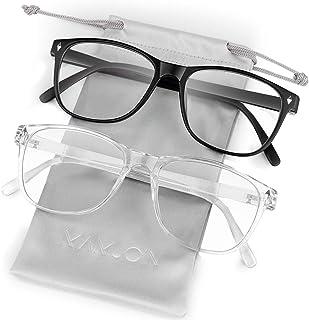 Mamjoin Blue Light Blocking Glasses, Anti Eye Strain Computer Glasses UV Filter Bluelight Blocker Glasses for Men Women, Square Frame & Clear Lens, Non Prescription Blue Light Glasses
