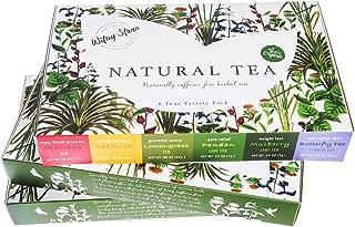 Tea sampler gift set Thai herbal drink dried Butterfly pea flower Lemongrass Pandan leaves Hibiscus Mulberry leaf Safflower herb