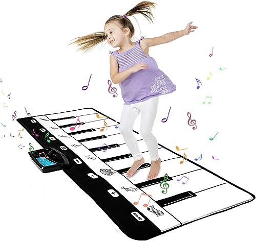 Shayson Tapis de Piano Musical,Tapis Piano Bébé Tapis de Musique Tactile pour Enfants Instrument de Musique Cadeau po...