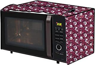 The Furnishing Tree Microwave Oven Cover for Panasonic 20 L Convection NN-CT265MFDG Floral Pattern Magenta