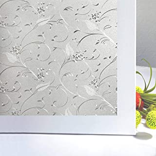 Niviy Static Cling Window Film Window Clings Privacy Frosted Window Cling Film17.7''x 78.7''
