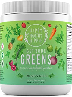 Get Your Greens Super Greens Powder – Powerful Servings of 10 Green Juice Blend, 8 Superfood Antioxidants, 6 Key Enzymes, ...