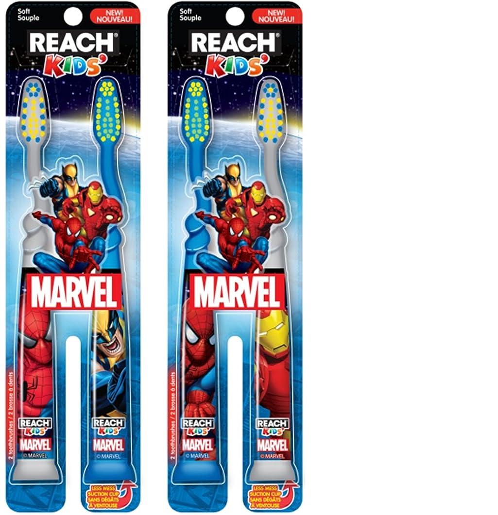 オフェンス千喜ぶReach Kids Mavel Soft Toothbrush, 2 Count by Reach