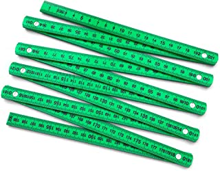 QWORK Folding Carpenter's Ruler 6' Length with 6