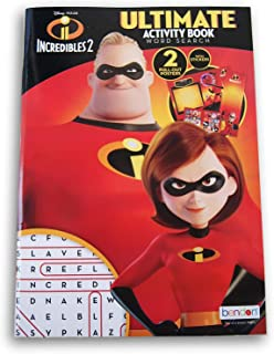 Incredibles 2 Ultimate Activity Word Search Book with Stickers and Pull-Out Posters