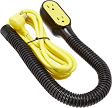 Quirky Prop Power Pro Wrap Around 9-Foot Extension Cord, Black, 3 Plugs