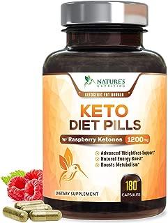 Keto Diet Pills - Keto Advanced Weight Loss 1200mg - Burn Fat Instead of Carbs, Ketosis Supplement & Ketogenic Fat Burner with Raspberry Ketones, Mango, Green Tea & Apple Cider Vinegar - 180 Capsules