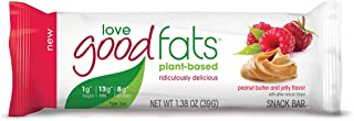 Love Good Fats Keto Friendly PlantBased Snack Bars Peanut Butter and Jelly (12 Bars)