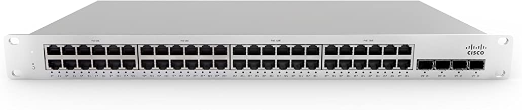 Meraki   MS210-48LP-HW   MS210-48LP-3YR   MS210-48LP 1G L2 Cld-Mngd 48x GigE 370W PoE Switch with MS210-48LP Enterprise License and Support, 3 Year