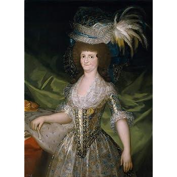 Francisco De Goya Giclee Papel de Arte impresión Obras de Arte Pinturas Reproducción de Carteles(Maria Luisa de Parma Reina de españa) #XZZ: Amazon.es: Hogar