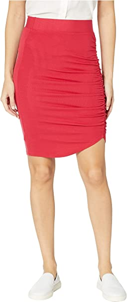 Ariel 2X1 Modal Stretch Rib Gathered Skirt