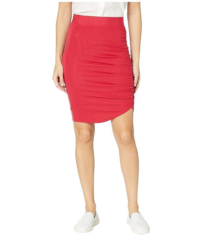 LAmade Ariel 2X1 Modal Stretch Rib Gathered Skirt (American Beauty) Women