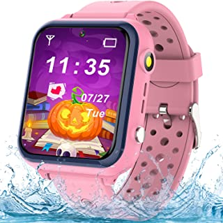 Kids Smartwatches for Girls Boys - Waterproof Kids Smart Watches Phone, HD IPS Touch Screen Call Watch for Kids with 11 Ga...