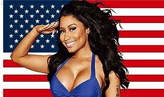 WENWELL Nicki Min-aj American Flag 3x5 FT,Barb USA Minaj Salute flag Poster Tapestry for Bedroom Living Room Dorm,Vivid Co...