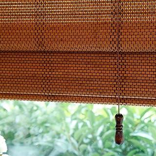 BCGT Stores Rouleau Cuisine Salon Ombre Salle for Windows intérieur et extérieur Mont, Blackout Bamboo Shades, 85cm / 105c...