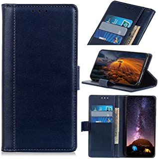 RanTuo Phone Case for Realme C21Y, with Card Slots, Bracket, TPU + PU Leather, Flip Case Cover for Realme C21Y.(Blue)