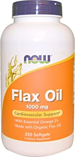 Flax Oil 1000mg (Organic) - Now Foods - 250 - Softgel by Now Supplements