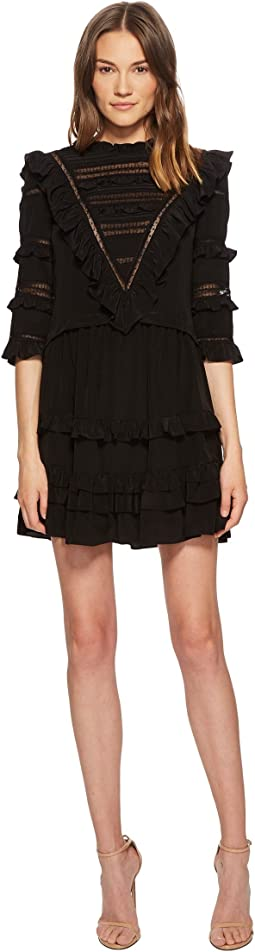 Rebecca Taylor Silk & Lace Dress