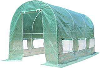 Sponsored Ad - Giantex Portable Walk in Greenhouse Plant Grow Tents Steel Frame Garden Backyard Outdoor Gardening Green Ho...