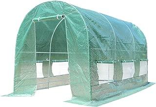 Giantex Portable Walk in Greenhouse Plant Grow Tents Steel Frame Garden Backyard Outdoor Gardening Green House w/ 6 Windows & Doors (11.5'X 6.5'X6.5')