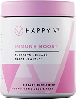 Happy VImmune Boost Cranberry Pills for Women |Cranberry Supplement withDmannose forUTI Prevention for Women |Cranberry Concentrate Pills forUrinary Tract Infection Treatment