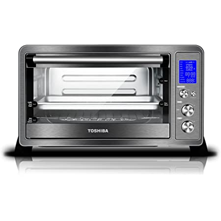 Toshiba AC25CEW-BS Toaster Oven, 6-Slice Bread/12-Inch Pizza, Black Stainless Steel