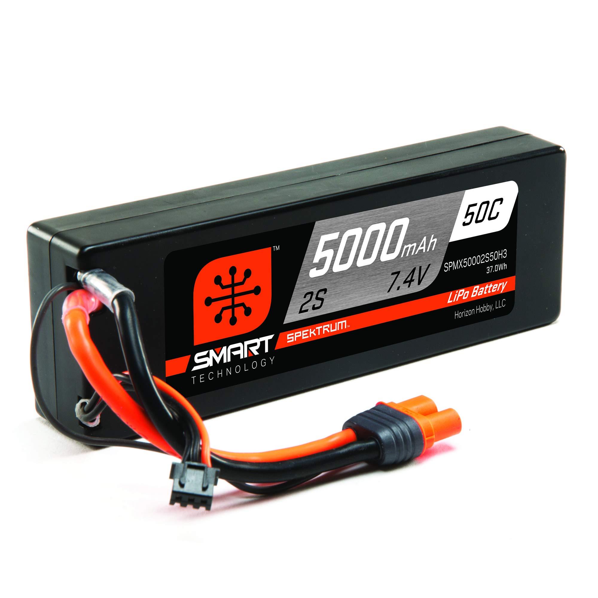 Bateria LIPO 7.4v 5000mah 50C 2S IC3 Spektrum