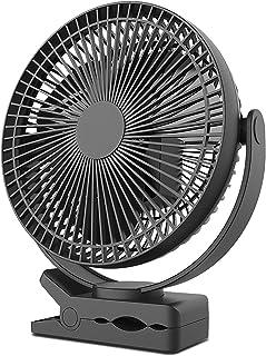 10000mAh 8 Inch Rechargeable Portable Clip on Fan, 8-Inch Battery Operated Clip on Fan, USB Fan, 4 Speeds, Strong Airflow,...