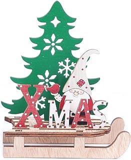 Heaven2017 Molde de madeira para decoração de Natal, árvore de Natal, enfeite de parede, artesanato e listras em L