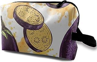 バック ミニバック 化粧 メイクポーチ 旅行 出張ポーチ コスメ 収納ポーチ カワイイ 野菜 ナス 小物入れ シンプル ケース おしゃれ旅行バッグ