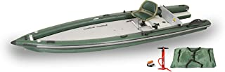 Sea Eagle FSK16 FishSkiff16 Inflatable Frameless Fishing Boat - Solo Startup Package