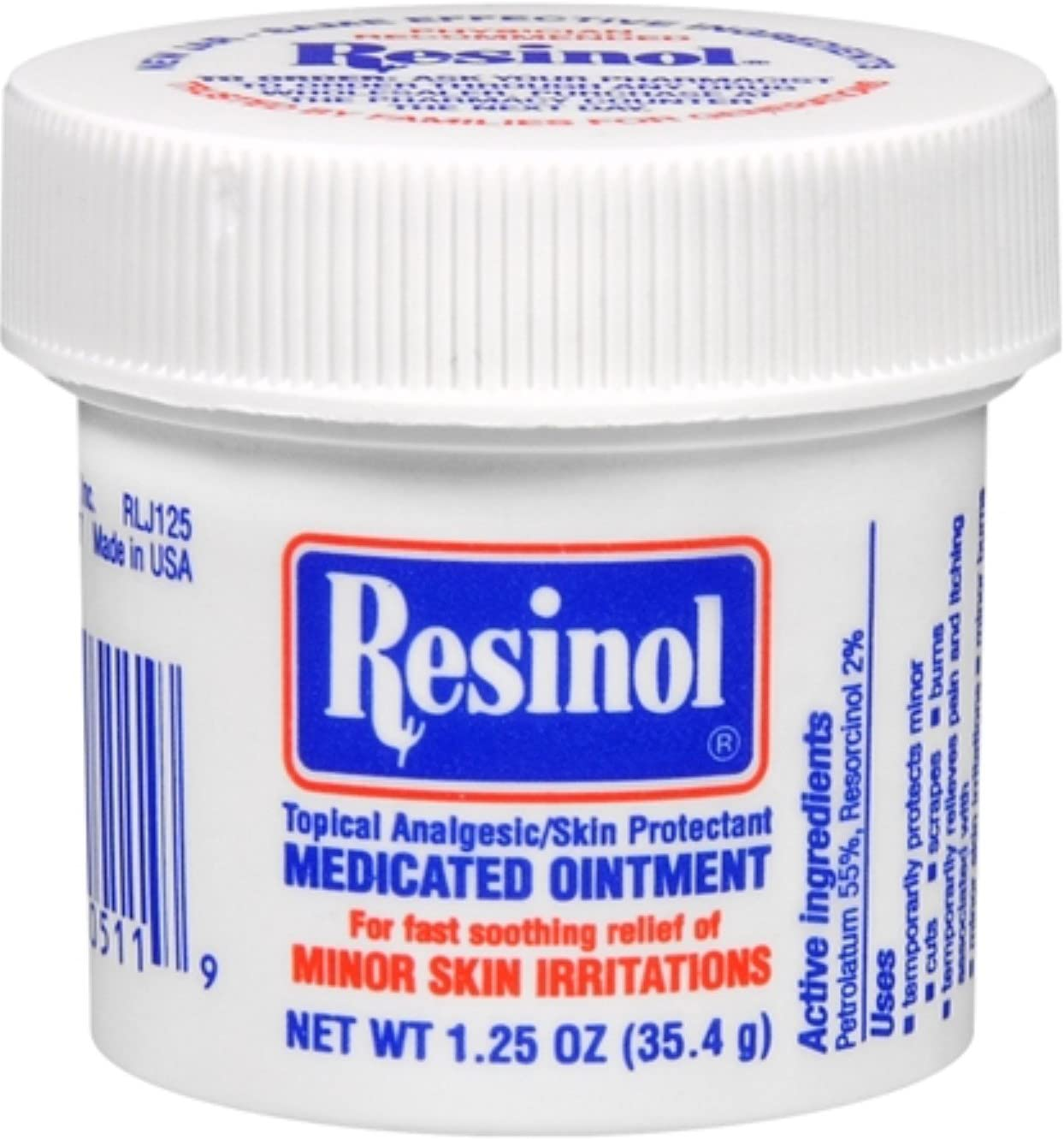 Free shipping Max 47% OFF Resinol Medicated Ointment 1.25 Pack of oz 12