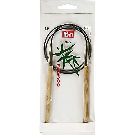 Prym 221512 Aiguille/Tricoter Circulaire 80cm 8,00mm Bambou, Marron, 2 x 1 x 90 cm